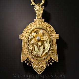 English Victorian Locket Necklace