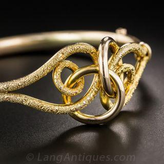 English Victorian Love Knot Bangle