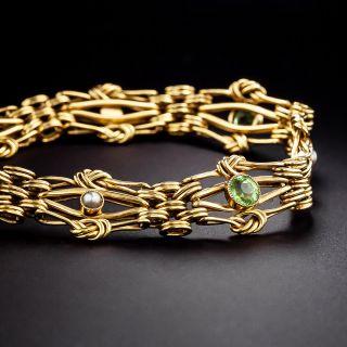 English Victorian Pearl and Peridot Bracelet - 1