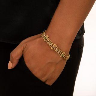 English Victorian Pearl and Peridot Bracelet