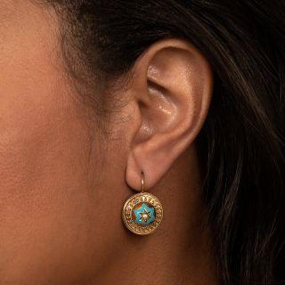English Victorian Star Earrings