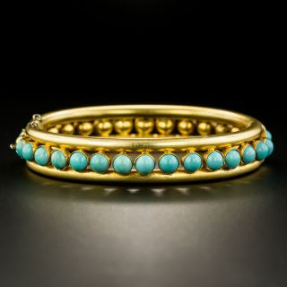 English Victorian Turquoise Bangle Bracelet - 2