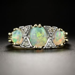 English Vintage Opal and Diamond Ring