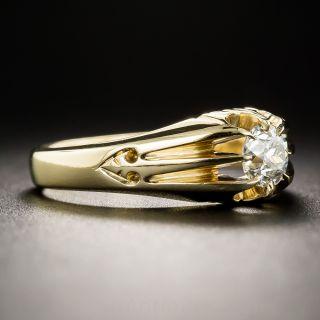 English Yellow Gold .50 Carat Diamond Vintage Solitaire Ring