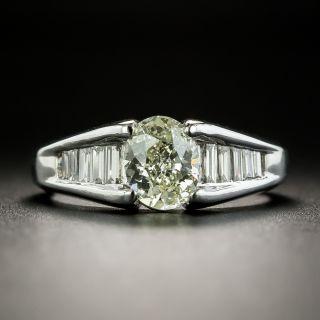 Estate 1.00 Carat Oval Diamond Engagement Ring - 2