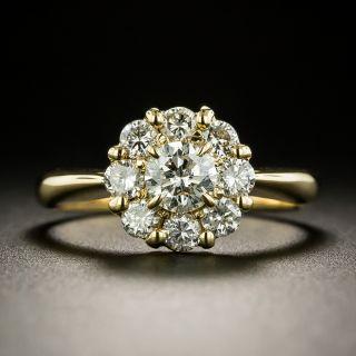 Estate 1.00 Carat Total Diamond Cluster Ring - 3