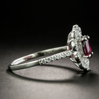 Estate 1.01 Carat No-Heat Ruby and Diamond Ring - GIA