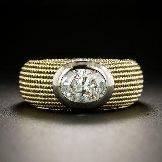Estate 1.01 Carat Oval-Cut Diamond Solitaire Ring - 3