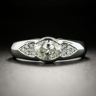 Estate 1.01 Carat Oval Diamond Engagement Ring - GIA L SI1 - 3