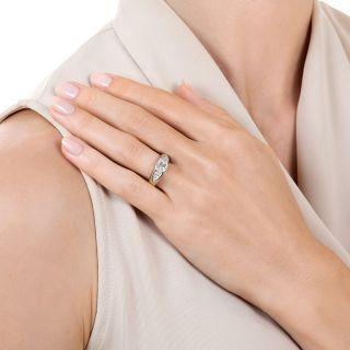 Estate 1.01 Carat Oval Diamond Engagement Ring - GIA L SI1