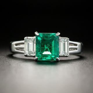 Estate 1.02 Carat Emerald and Diamond Ring - 2