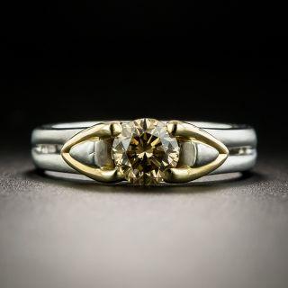 Estate 1.02 Carat Natural Brown Diamond Engagement Ring - 2