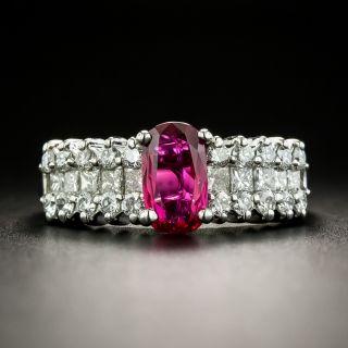 Estate 1.02 Carat No-Heat Ruby and Diamond Ring - GIA - 2