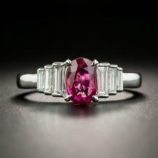 Estate 1.02 Carat Ruby and Diamond Ring - 2