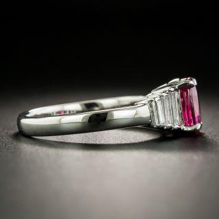 Estate 1.02 Carat Ruby and Diamond Ring