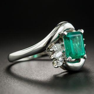 Estate 1.03 Carat Emerald and Diamond Ring