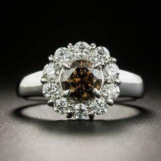 Estate 1.03 Carat Fancy Brown Diamond Halo Ring - 2