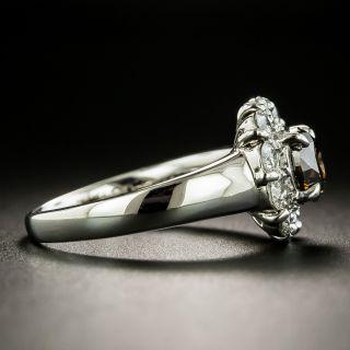 Estate 1.03 Carat Fancy Brown Diamond Halo Ring