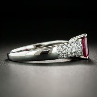 Estate 1.07 Carat Burmese Ruby and Diamond Ring