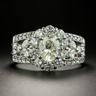 Estate 1.11 Carat Oval-Cut Diamond Engagement Ring - 2