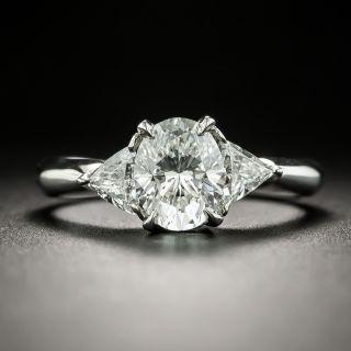Estate 1.14 Carat Oval Diamond Engagement Ring - GIA E SI1 - 3