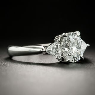 Estate 1.14 Carat Oval Diamond Engagement Ring - GIA E SI1