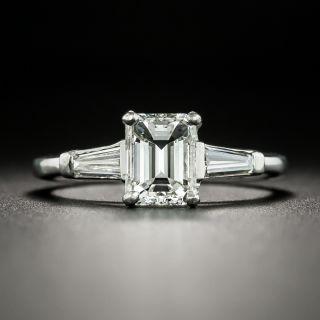 Estate 1.17 Carat Emerald-Cut Diamond Engagement Ring - GIA I VVS2 - 2
