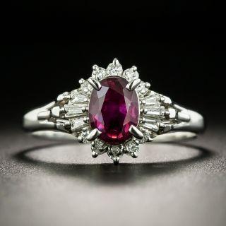Estate 1.17 Carat Ruby and Diamond Ring - 1