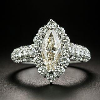 Estate 1.20 Carat Marquise-CutDiamond Engagement Ring - GIA M SI2 - 1