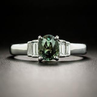 Estate 1.22 Carat Alexandrite and Diamond Ring - 2