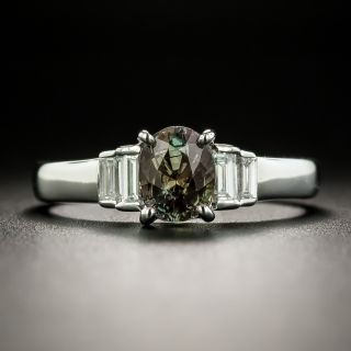 Estate 1.22 Carat Alexandrite and Diamond Ring