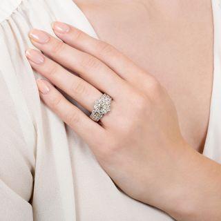 Estate 1.23 Carat Oval Diamond Halo Ring - GIA J VS1