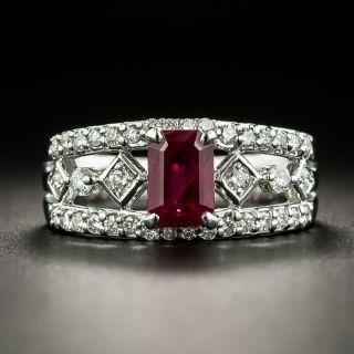 Estate 1.23 Carat Ruby and Diamond Ring - 1