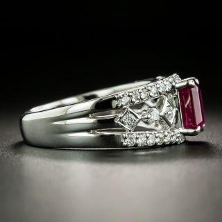 Estate 1.23 Carat Ruby and Diamond Ring
