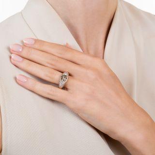 Estate 1.24 Carat Fancy Dark Brown Diamond Engagement Ring - GIA
