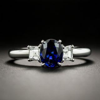 Estate 1.27 Carat Ceylon Sapphire and Diamond Ring - 1