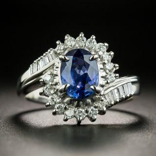 Estate 1.30 Carat Sapphire and Diamond Ring - 1