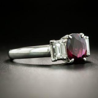 Estate 1.32 Carat Ruby and Diamond Ring