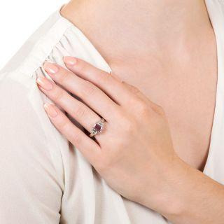 Estate 1.34 Carat Pink Sapphire and Diamond Ring