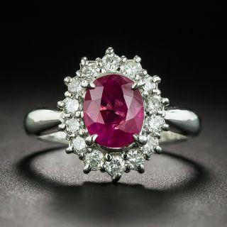 Estate 1.40 Carat Burmese Ruby and Diamond Ring - 1