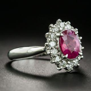 Estate 1.40 Carat Burmese Ruby and Diamond Ring
