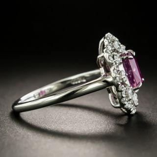 Estate 1.43 Carat No-Heat Ceylon Ruby and Diamond Ring - GIA