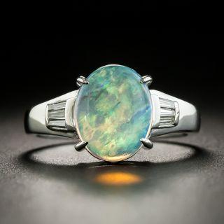 Estate 1.43 Carat Opal Cabochon and Diamond Ring  - 1