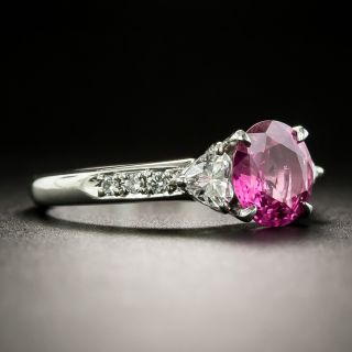 Estate 1.47 Carat No-Heat Pink Sapphire and Diamond Ring