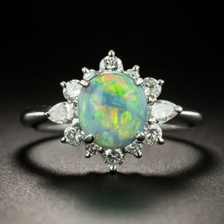Estate 1.49 Carat Opal and Diamond Ring - 2
