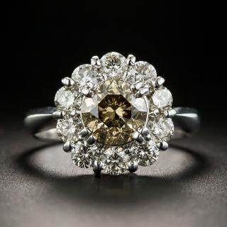 Estate 1.50 Carat Brown Diamond Halo Ring - 2