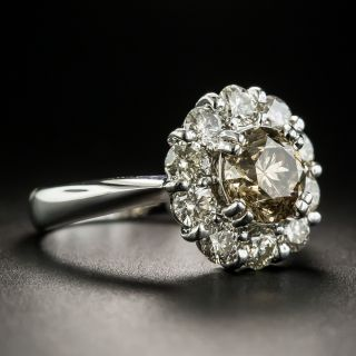Estate 1.50 Carat Brown Diamond Halo Ring