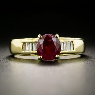 Estate 1.50 Carat Ruby and Diamond Ring - 1