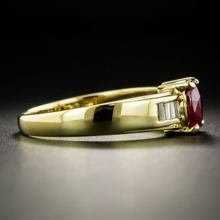 Estate 1.50 Carat Ruby and Diamond Ring