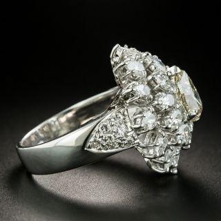 Estate 1.51 Carat Pear Shape Diamond Cocktail Ring - GIA